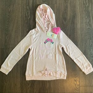 Nwt Sequin Love Pink Hoodie, Size 7